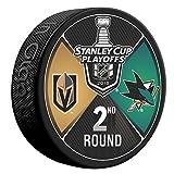 2018 Vegas Golden Knights vs San Jose Sharks 2nd Round Souvenir Hockey Puck