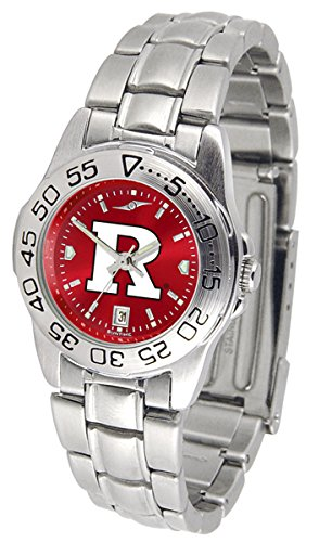 Linkswalker Rutgers Scarlet Knights Ladies' Sport Steel Anochrome - Steel Sport Knights Watch Ladies