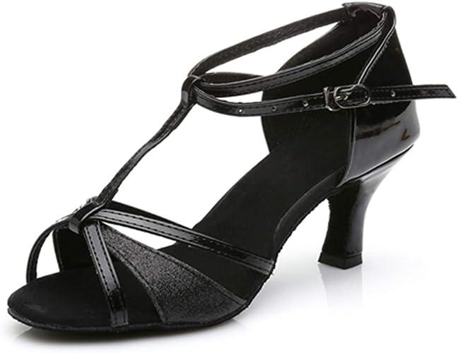 Mujer Niña Dama de la sala de baile Baile Latino Bailando Zapatos Tacón Salsa