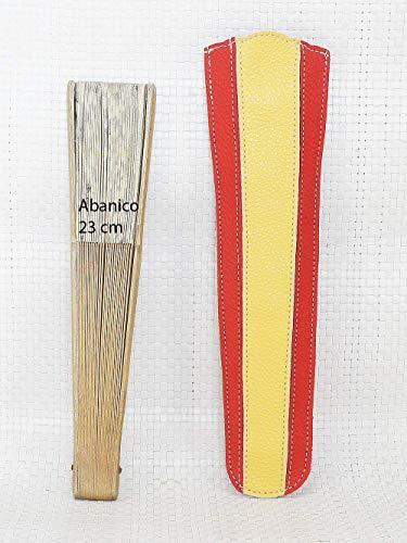 Funda de abanico bandera España. Funda Abanico de piel. Estuche ...