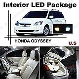 Ameritree Honda Odyssey 2005-2010 ( 11 Pcs ) Xenon White LED Lights Interior Package + White LED License Plate Kit