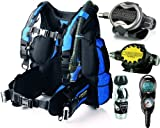 Cressi Air Travel BC Scuba Gear Package, BL-MD