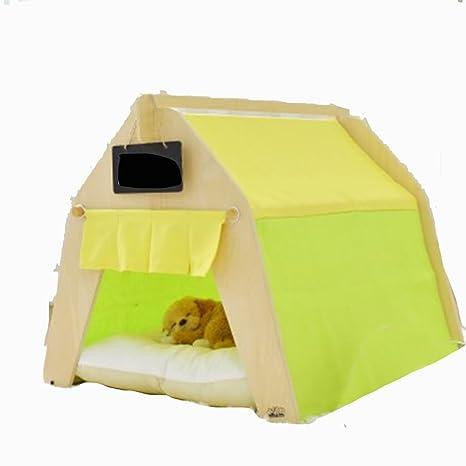 MUJING Lona De Algodón Extraíble De Verano Casa De Mascotas Habitación De Gato Pequeña Casa De