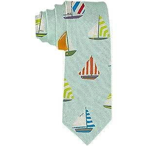 Corbata para hombre Colorido velero en el océano azul Corbatas ...