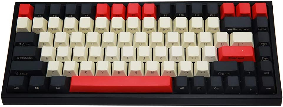 YUNZII KC84 84 Keys Hot Swappable Wired Mechanical Keyboard with PBT Dye-subbed Keycaps, Programmable, RGB,NKRO,Type-C Cable for Win/Mac/Gaming/Typist (Gateron Red Switch, SP-Black)