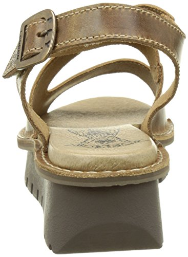 Sandali Camel Marrone Donna London Fly 001 Kimb456fly 0wzFZ6