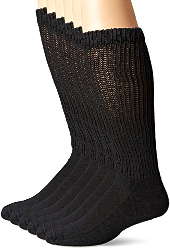 dr-scholls-mens-6-pack-over-the-calf-diabetic-socks-black-shoe-7-12