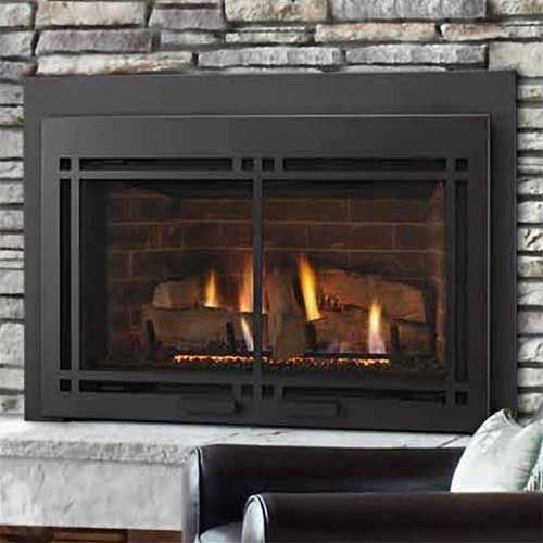 Majestic MDVI30IL Direct Vent Gas Fireplace Insert Package21 - (Monessen Direct Vent Fireplace)