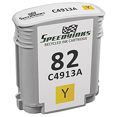 Speedy Inks - Remanufactured Replacement for HP 82 HP C4913A Yellow Ink Cartridge for use in HP DesignJet 500, 500PS, 800, 800PS, 510, 815MFP, 820MFP, Copier - Designjet 510 Printer