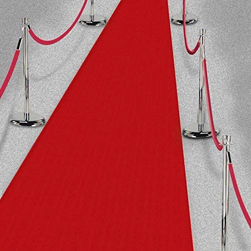Amscan 15ft Hollywood Party Decoration Fabric Red Carpet Floor Runner ()