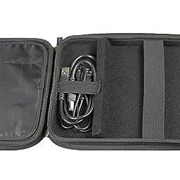iGadgitz Black EVA Travel Hard Case Cover Sleeve for External USB DVD CD Blu-Ray Rewriter / Writer