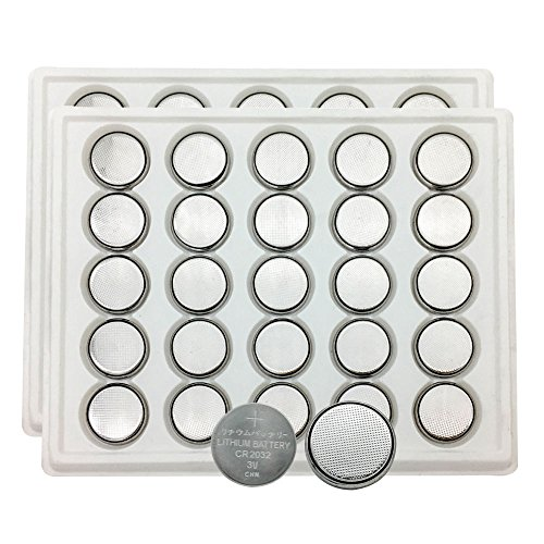 MJKAA 2032 Battery CR2032 Button Cell Batteries DL2032 KCR2032 5004LC ECR2032( 50 pieces ) by MJKAA