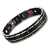 Elegant Mens Women Titanium Magnetic Therapy Bracelet Health Stainless Steel Bracelets for Pain