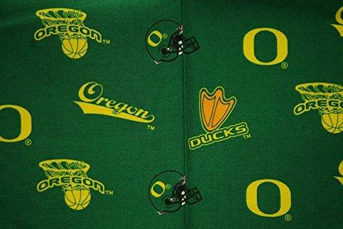 Oregon Ducks Football Green Sheeting Fabric Cotton 4 Oz 44-45
