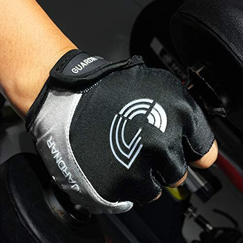 Guardnar Half Finger Gloves with Foam Padded for Cycling Motorcycle and Outdoor Sports Bicycle Bike