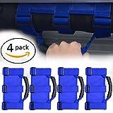 Automotive : 4 x Roll Bar Grab Handles Grip Handle For Jeep Wrangler YJ TJ JK JK JL JLU Sports Sahara Freedom Rubicon X & Unlimited 1955-2018 (Heavy Duty Blue)
