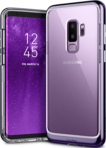 Galaxy S9 Plus Case, Caseology [Skyfall Series] Slim Transparent Clear Scratch Resistant Protective Hard Cover for Samsung Galaxy S9 Plus (2018) - Metallic (Metallic Crystal Case)