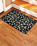 Soloom Non Slip Stair Treads Carpet Indoor Blended Jacquard Skid Resistant Stair Tread Rugs Rubber Backing (1 Piece Landing Mat (24x36 Inch), Black)