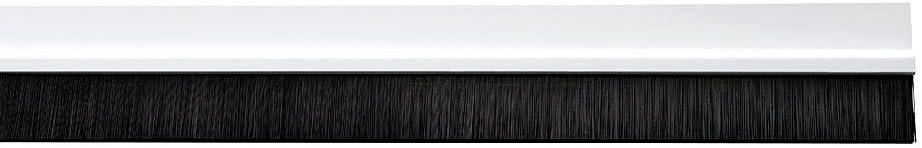 WOLFPACK LINEA PROFESIONAL 5190150 Burlete Puerta PVC Blanco con Cepillo 1 Metro