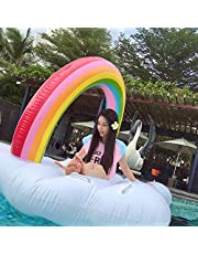 Inflatable Flamingo, Summer Trumpet Flamingo Floating Row Adult Children Outdoor Beach Party Inflatable Toys