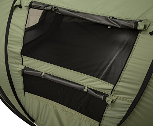 FiveJoy Instant Popup Camping Tent (1-3 Person) – NO Assembly Required – Easy Setup in Seconds – Great for Fair Weather Camping, Families, Festivals