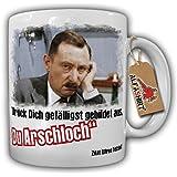 Alfred Tetzlaff Bildungslücke Spruch Zitat Drück Dich gefälligst gebildet aus Du Arschloch Herz Seele Humor Spaß Fun- Tasse Kaffee Becher #9786