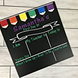 Personalized First day of School Chalkboard Sign- primary pencil banner