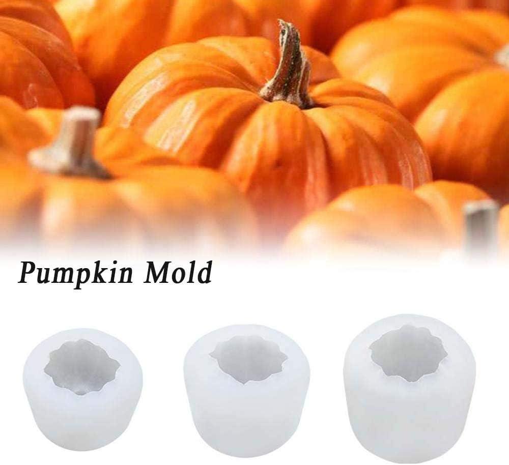YITAQI 3D Pumpkin Silicone Mold,Handmade Mini Candle Chocolate Fondant for Halloween Baking Tool Soap Candle Mold Decoration S