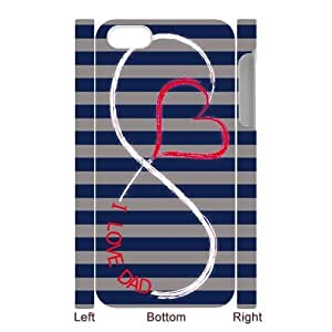 SpecialCasedesign Personalized Father's Day I Love My Dad Infinity iPhone 5 5S Case Best Durable Back Cover