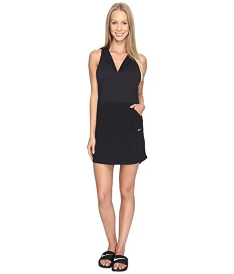 55fe78e25c008 Nike Women's Hooded Dress Swimsuit Cover Up M Black: Amazon.ca: generic