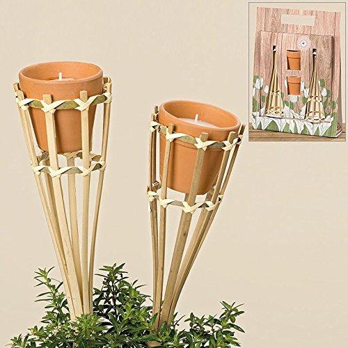 Candela da giardino Candela decorativa Party 4pezzi–2candele 2titolare regalo set Flippi