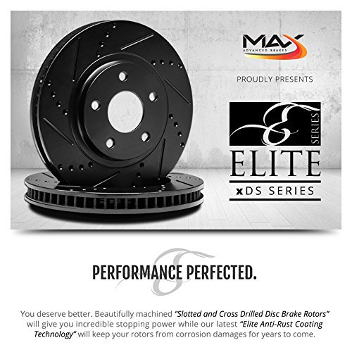KT134981-2 Max Brakes Front Elite E-Coated XDS Rotors and Ceramic Pads Brake Kit