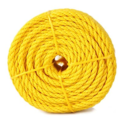 Koch 5000836 Twisted Polypropylene Rope, 1/4 by 100 Feet, Yellow