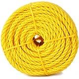 Koch 5000836 Twisted Polypropylene Rope, 1/4 by 100 Feet, Yellow
