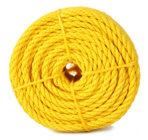Koch 5001636 Twisted Polypropylene Rope, 1/2 by 100 Feet, Yellow by Koch Industries (Image #1)