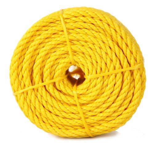 Koch 5001236 Twisted Polypropylene Rope, 3/8 by 100 Feet, Yellow