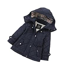 LJYH Girls' Quilted Puffer Jacket Winter Thick Hooded Outwear Coat