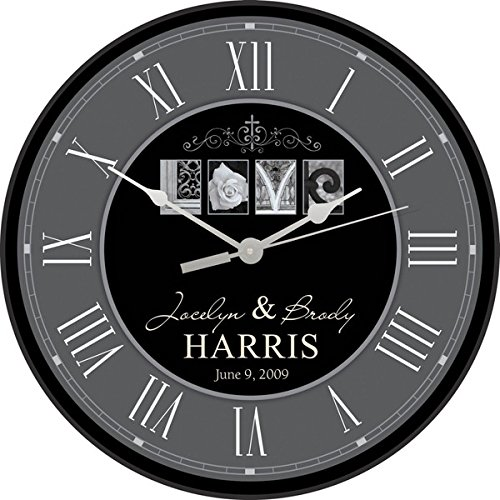 P Graham Dunn Personalized Laser Engraved 12 Quot Wall Clock