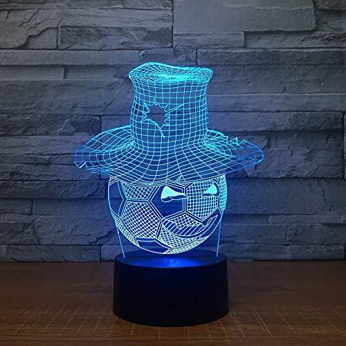 Fútbol con una forma de sombrero Lámpara LED 3D LED Ambiente ...