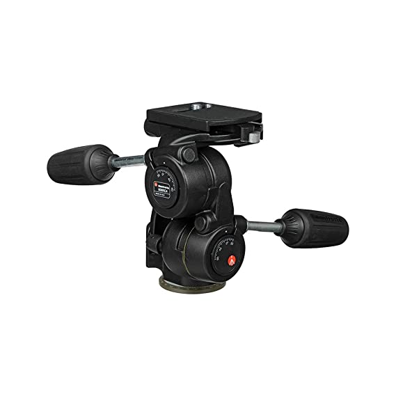 Manfrotto 808RC4 3-Way Standard Head with Quick Release Plate 410PL (Black) Tripod Heads at amazon