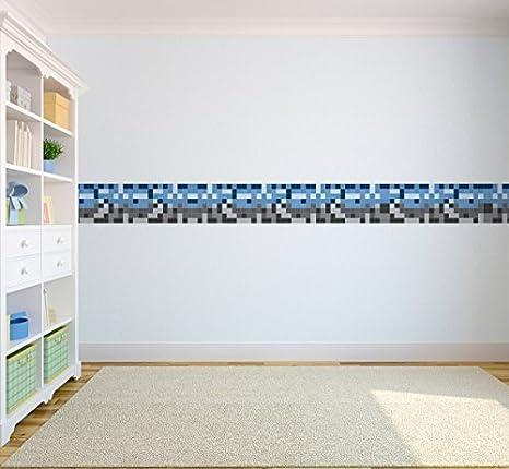 Carta Da Parati E Bordi.Pixel Design Per Bambini Bordo Carta Da Parati In Vinile Autoadesivo