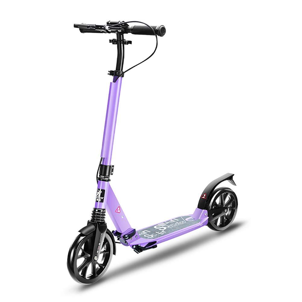 大人用2輪キックスクーター、ハンドブレーキ、ビッグホイール付き (色、子供用誕生日プレゼント10歳以上ボーイズガールズ :、サポート100kg、非電気 (色 B07L1V4Z21 : Purple) Purple B07L1V4Z21, JINA BRING:45c3f097 --- instruments.paddymartin.com
