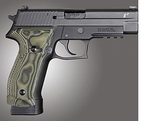 Hogue SIG Sauer P226 DA/SA Magrip Checkered G10, G-Mascus Green, Green 23178