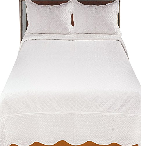 Buy Discount Infinite Coverlet/Bed Spread, King, Ivory