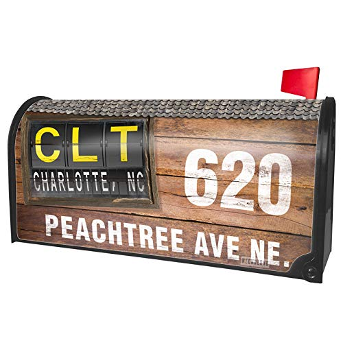 (NEONBLOND Custom Mailbox Cover CLT Airport Code for Charlotte,)