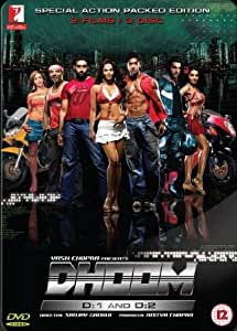 Special Action Packed Edition (Dhoom 1 and Dhoom 2: Two Classic Action Hindi Movies / Indian Cinema / Bollywood Film DVD in a Steelbook Set)