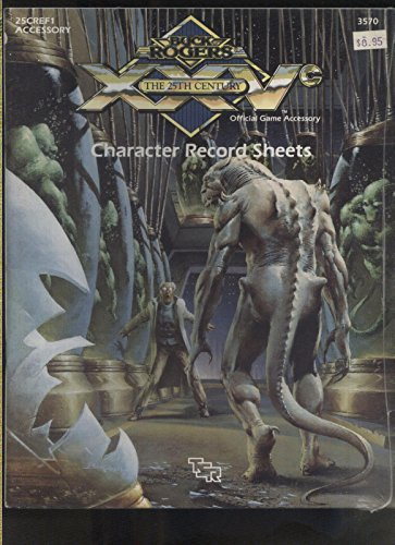 Character Record Sheets TSR RPG Buck Rodgers 25th century new/sealed nos MBX101