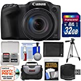 Canon PowerShot SX420 is Wi-Fi Digital Camera (Black) 32GB Card + Case + Battery + Tripod + Kit