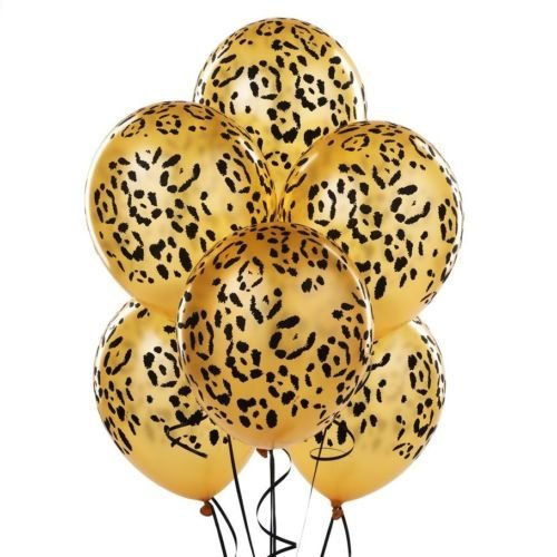 LoonBalloon LEOPARD Spots Gold (12) Jungle Latex Helium Balloons Birthday Party Baby Shower -