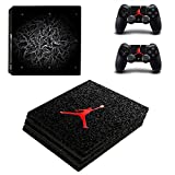 MightyStickers - Air Jordan Retro Shoes PS4 Pro Console Wrap Cover Skins Vinyl Sticker Decal Protective for Sony PlayStation 4 Pro + 2 Controller